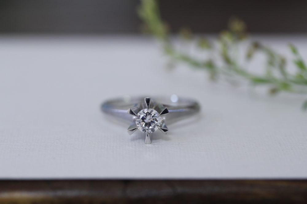 婚約指輪のダイヤを使って普段使いできるデザインへと