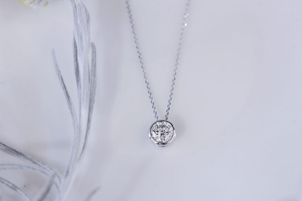 ベルト付いてたダイヤをネックレスリフォーム