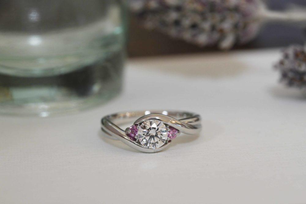 昔購入した指輪のダイヤを使って今風へと