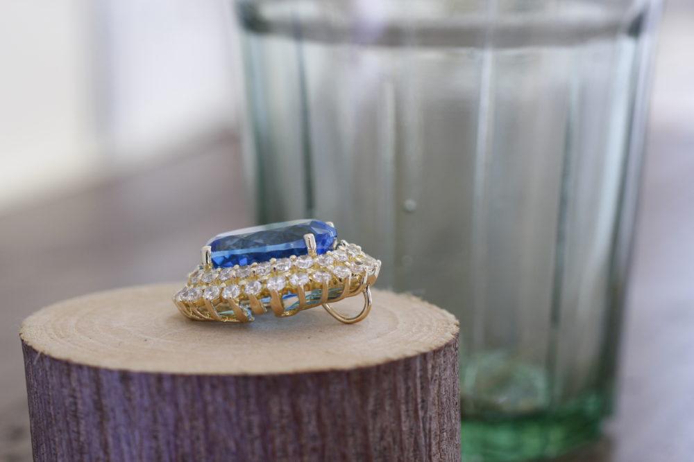 大きなトパーズの指輪のリフォーム