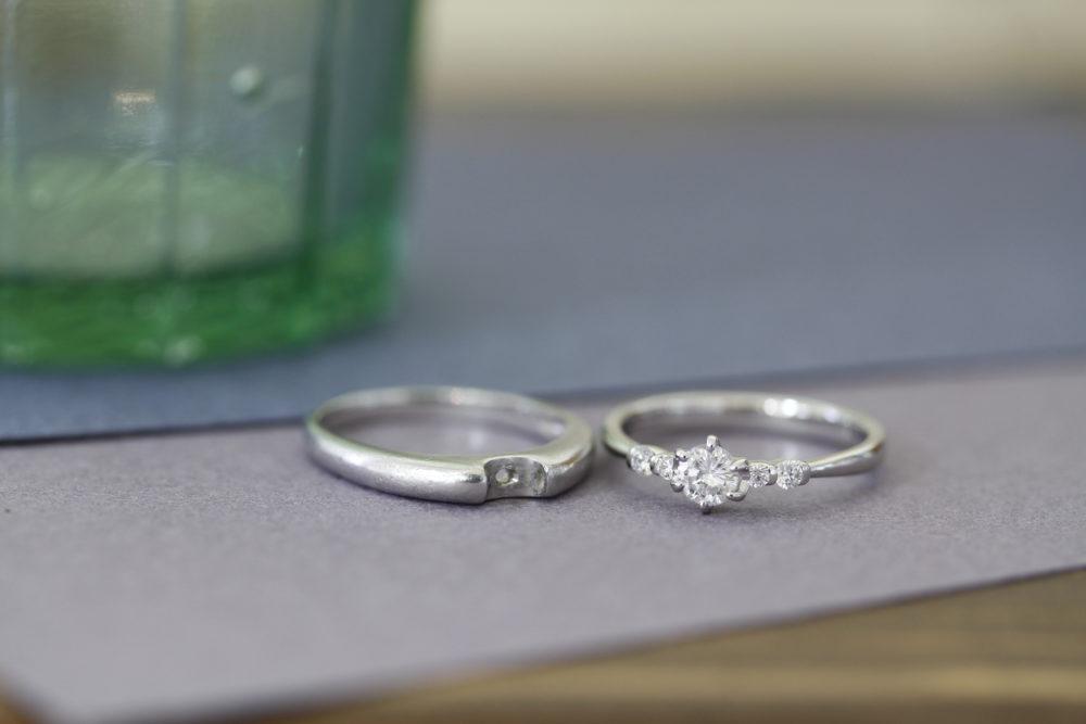 婚約指輪を今風のデザインへと